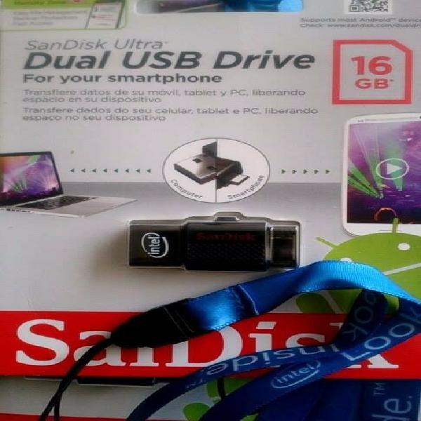 Memoria dual usb y micro usb para celular 16 gb