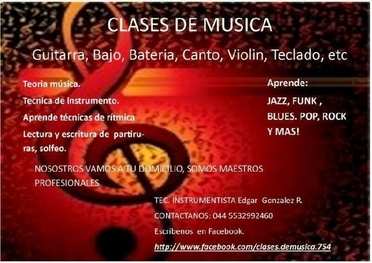 Escuela de guitarra, clases de violin a domicilio, toda la