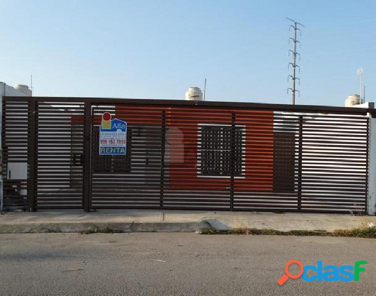 Casa sola en renta en la herradura, cd. caucel / mérida (yucatán).