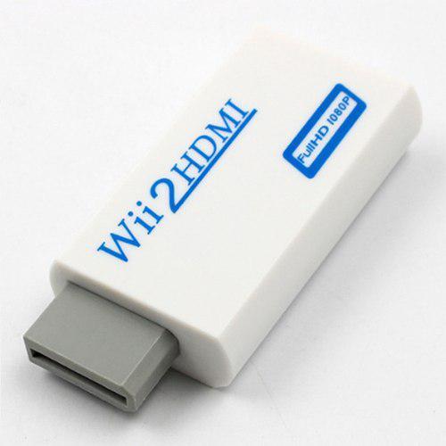 Adaptador convertidor de video full hd hdtv wii a hdmi blanc