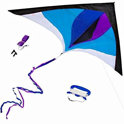 Best delta kite easy fly para niños y principiantes single
