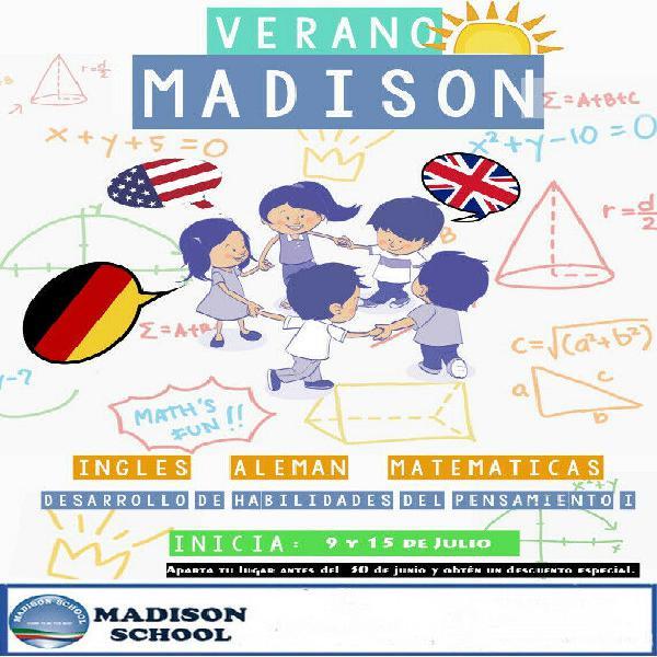 Cursos de verano 2020, inglés, alemán, matematicas