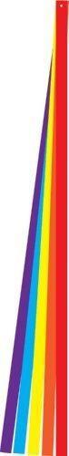En la brisa 6foot colorful kite tailjuego de cinco