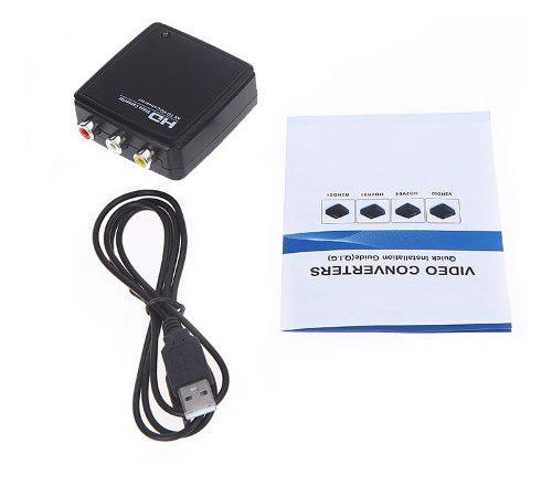 Flykan mini av / cvbs a adaptador convertidor vídeo hd