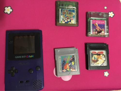 Gameboy color + 4 juegos