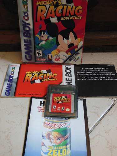 Juego para gameboy color mickey's racing adventure