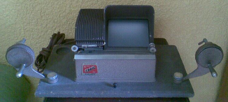 Viejo editor de 16mm de los 50s