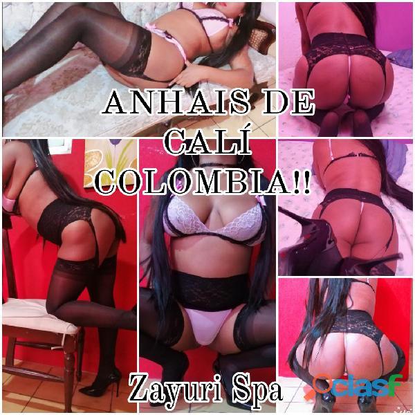 Anahis!! Morena de fuego, directo de Cali Colombia a Zayuri Spa...