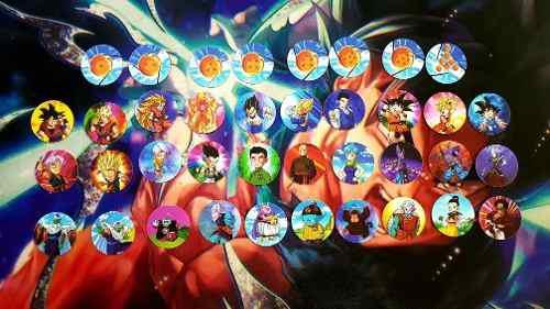 108 tazos dragón ball super 2019 coleccion completa.