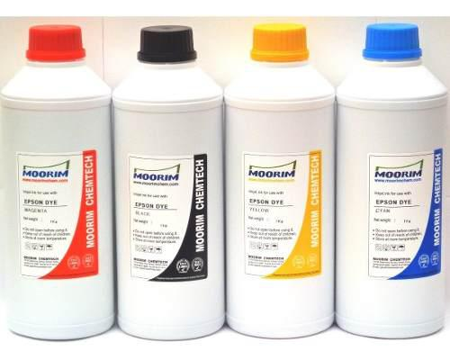 4 litros de tinta marca moorim tipo dye compatible con epson