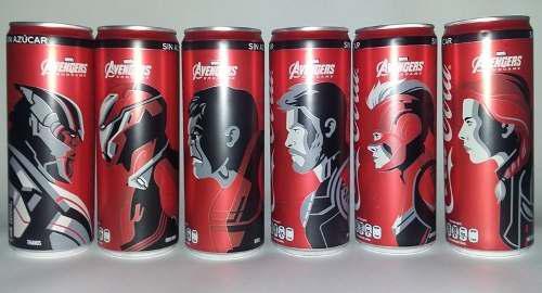 Coca cola lata, avengers end game, ed. 2019, varios modelos