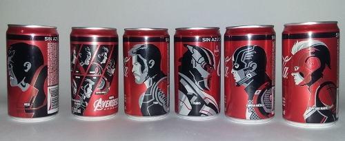 Coca cola lata, avengers end game, ed. 2019 varios modelos