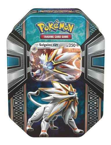 Coleccion tarjetas pokemon solgaleo legends of alola tin