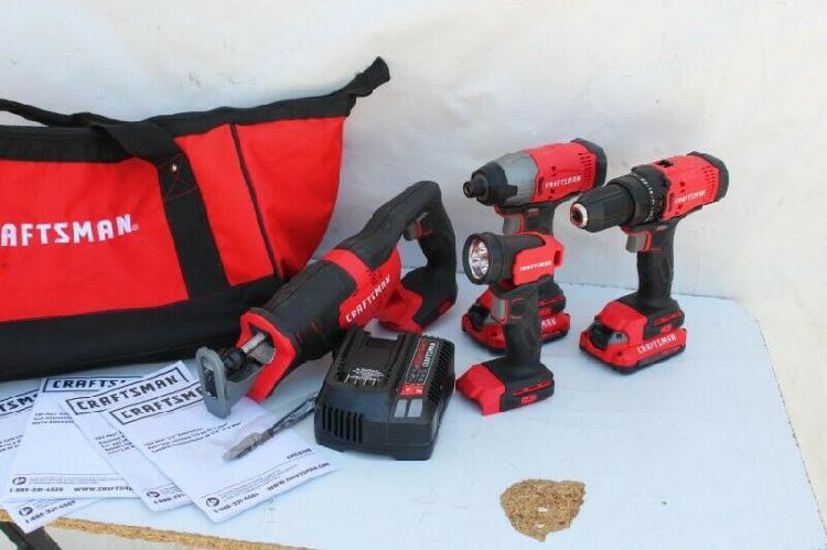 Craftsman 20-volt lithium-ion 4 herramientas