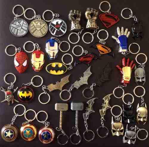 Llaveros marvel dc comics ironman batman thor spiderman hulk