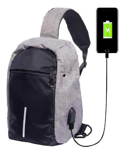 Mochila antirrobo impermeable usb 25 litros laptop tablet