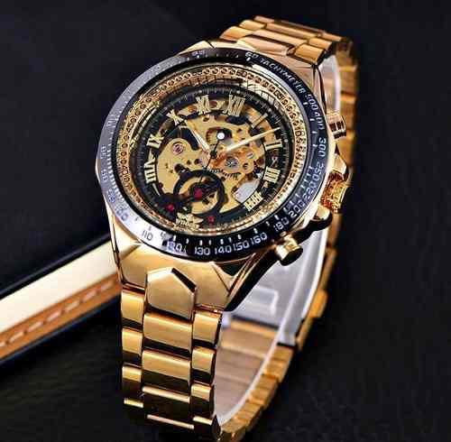 Reloj original marca winner automático tipo esqueleto