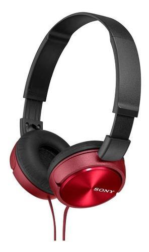 Audífonos sony diadema 1000mw mdr-zx310 rojos