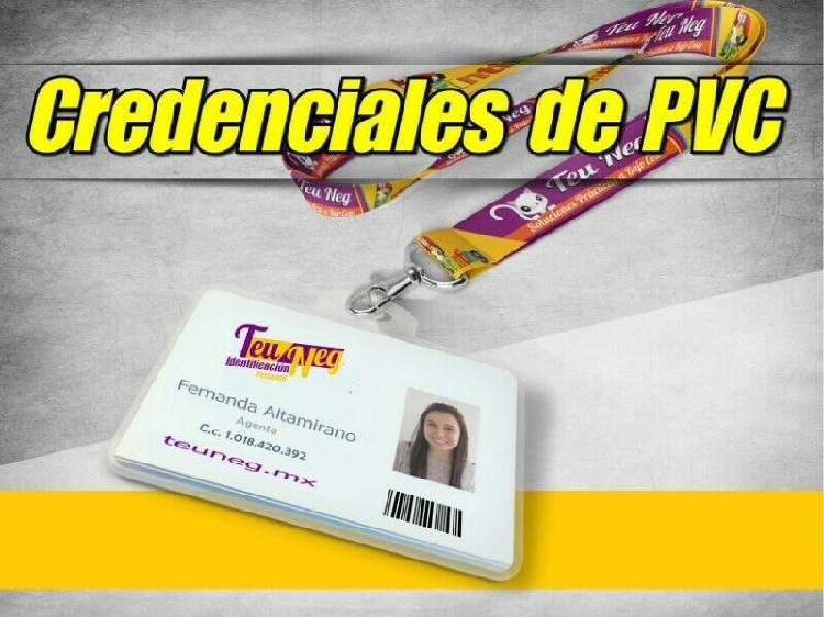 Credenciales, gafetes, tarjetas pvc. identificaciones en