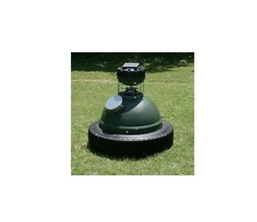 Comedero capsule feeder de venado 250 lbs con panel solar