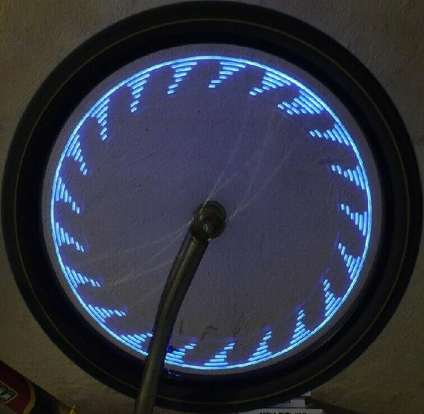 Luz 14 led rgb llanta bicicleta tuning resistente agua