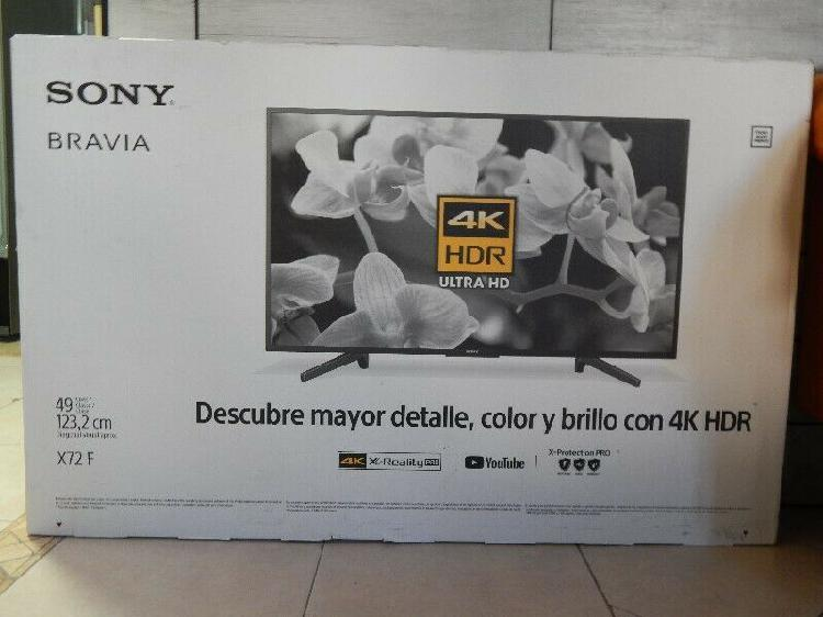 "Pantalla sony 49"" 4k, hdr, ultrahd, smart tv, led"