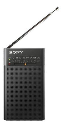 Radio portatil con bocina sony icf-p26 am/fm luz led