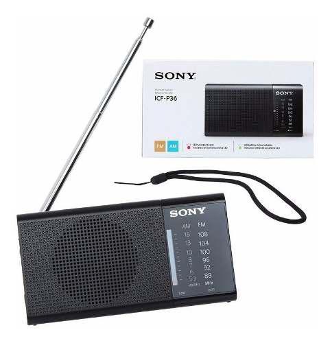 Radio portátil sony p36 sintonizador analógico am / fm