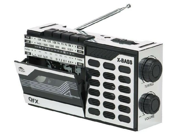 Radiograbadora cassette retro am/fm/sw banda corta qfx j-7