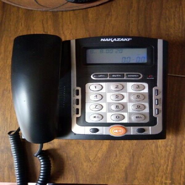 Teléfono alámbrico con ID de llamadas Nakazaki mod. 8613
