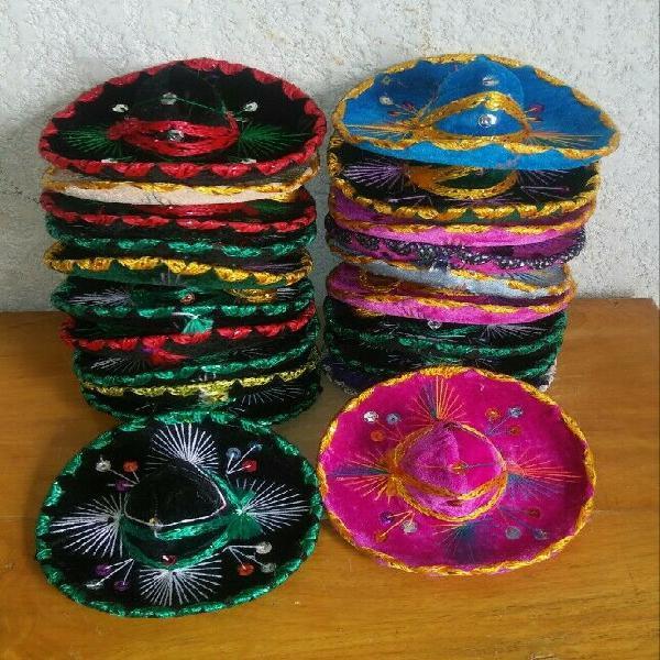 10 sombrero charro miniatura para adorno o regalo de