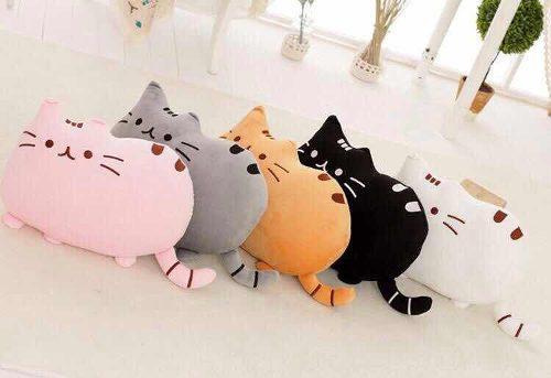 Cojín almohada peluche gato