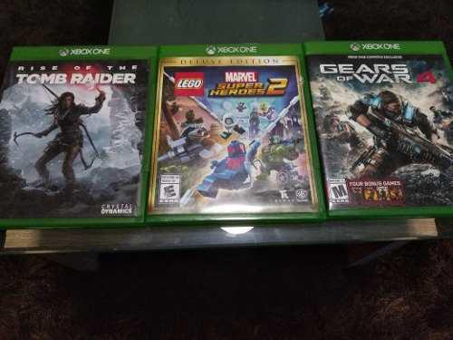 Juegos xbox one (gears of ward, tomb raider, marvel super)