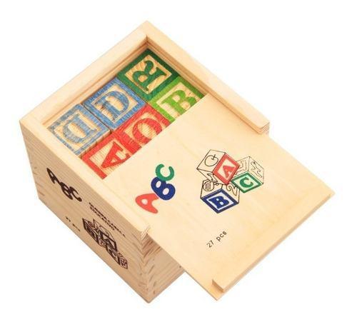 Juguete madera números y letras
