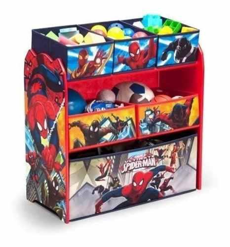 Juguetero organizador de spiderman hombre araña marvel