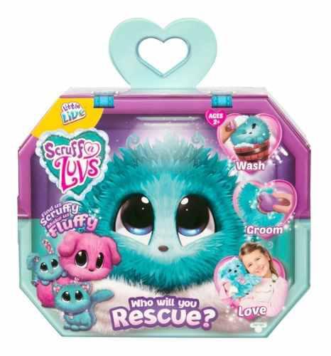 Little live pets scruff-a-luvs mystery rescue peluche azul