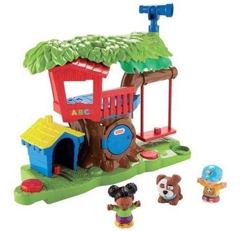 Little people surtido de playsets casa del árbol y mercado