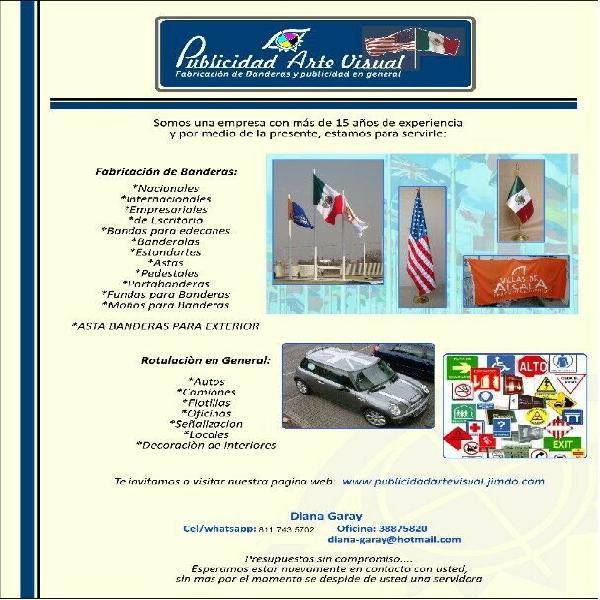Publicidad arte visual-fabricacion de banderas y publicidad