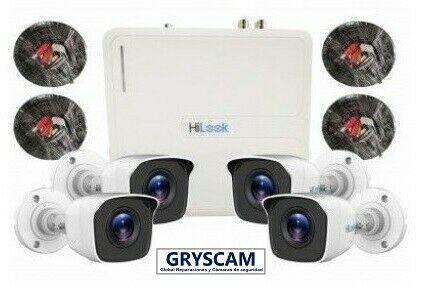 Paquete de 4 cámaras de seguridad y vigilancia