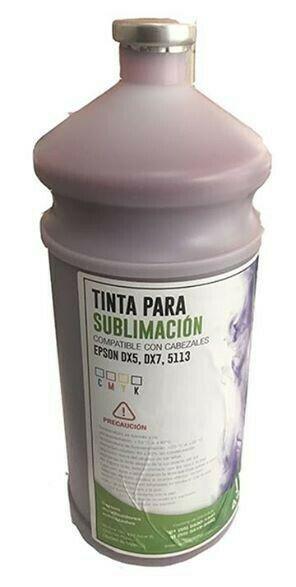Tinta para plotter de sublimación compatible con cabezales