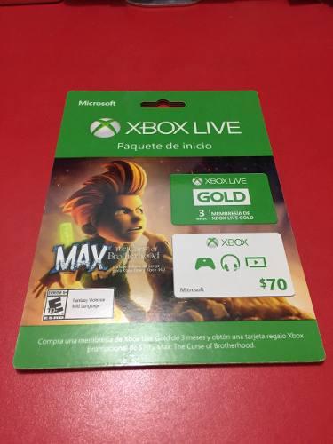 Xbox live gold 3 meses + juego descargable 360/one