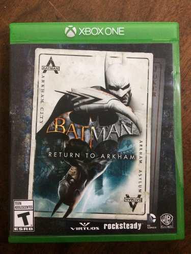 Xbox one batman return to arkham 2 juegos en 1 como nuevos