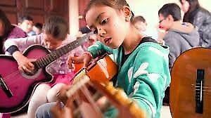 Maestros de guitarra electrica bajo electrico,