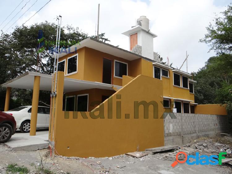 Renta casa amueblada 2 recámaras colonia villa rosita tuxpan veracruz, villa rosita