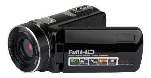 24.0mp cámara de video hd videocámara pantalla lcd de 2.7