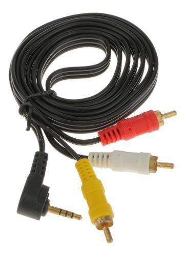 3.5mm al 3 rca av cable de videocámara