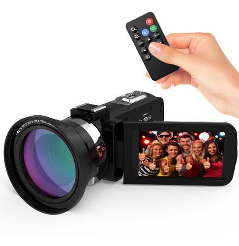 Andoer 4k ultra hd wifi cámara de vídeo digital