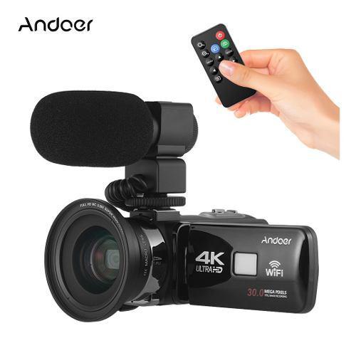 Andoer 4k ultra hd wifi cámara vídeo digital videocámara