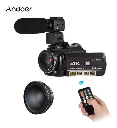 Andoer ac3 4k uhd 24mp cámara de vídeo digital