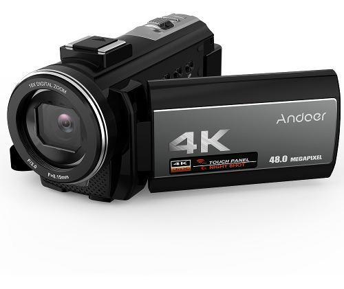 Andoer cámara de video digital 4k videocámara ultra hd